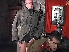 Young Soviet policeman enjoy tight anal and cum