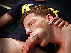 While Kev (Hunter Page) is trapped in a locked truck back at the frat house, his fellow K.O.K. brothers (Doug Acre and Lucas Knight) are living it up at the Powerhouse underwear night. In the third episode of NakedSword Original's Frat House Cream, the gu