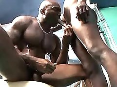 Muscle black gay sucks dark cock