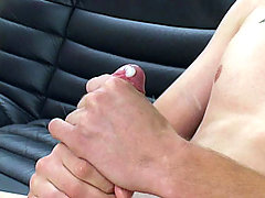 Cute amateur college twink stroking his cock in these clips