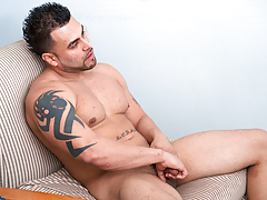 Horny Latino stud jerks his big 10-Pounder until her cums heavy