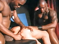 Sexy black men have banging ON STAGE in abdomen of a R/T audience